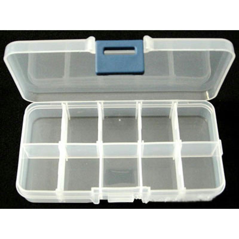 Boite vide plastique rectangle 13 6cm boite rangement for Boite de couture plastique