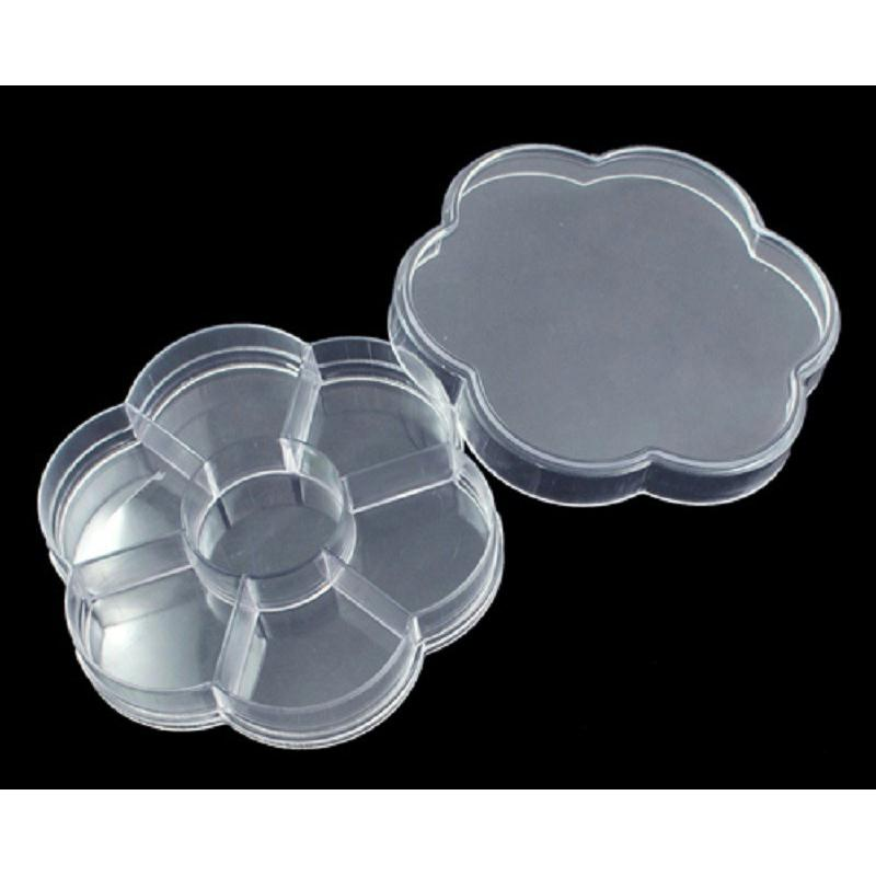 Boite vide plastique ronde fleur diametre 10cm boite for Boite couture plastique
