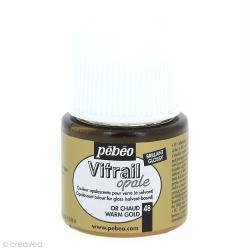Peinture vitrail opaque Or chaud - 45 ml