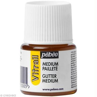 Médium pailleté pour vitrail - 45 ml