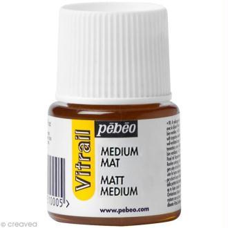 Médium mat pour vitrail - 45 ml