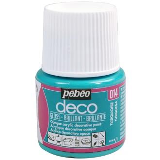 Peinture P.BO Déco 45 ml - brillant - Bleu turquoise