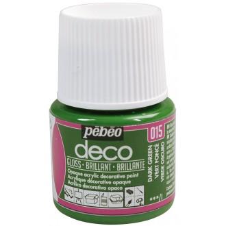 Peinture P.BO Déco 45 ml - brillant - Vert foncé