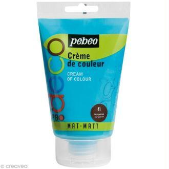 Crème de couleur Pébéo 110 ml - Bleu turquoise