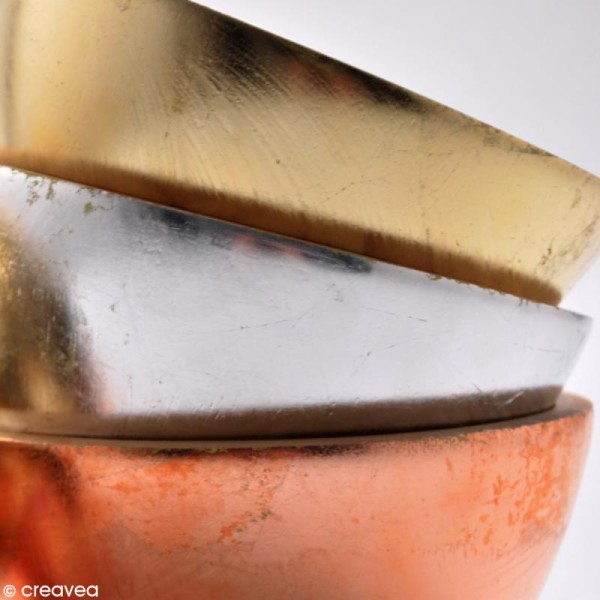 Feuille à dorer Pébéo - cuivre x 12 - Photo n°2