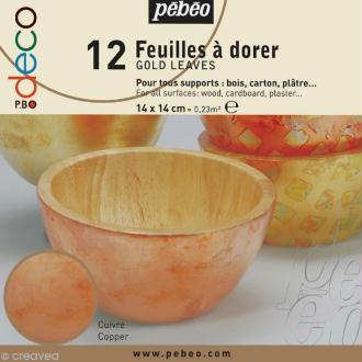 Feuille à dorer Pébéo - cuivre x 12
