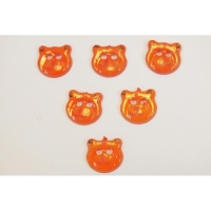 Boutique disacrea LOT 6 BOUTONS BOIS /à coudre tete ours couleur rose 18mm