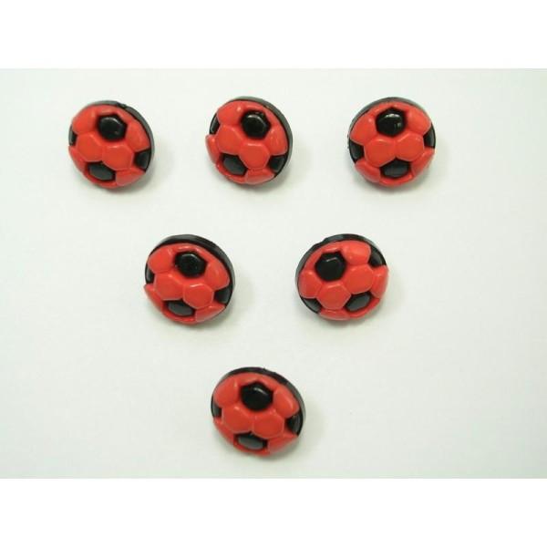 1.3 cm Noir /& Blanc Football Nouveauté Boutons x 10