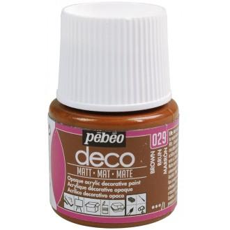 Peinture P.BO Déco 45 ml - mat - Marron brun