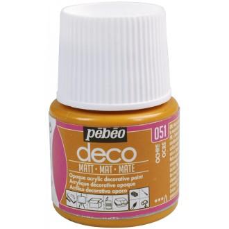 Peinture P.BO Déco 45 ml - mat - Marron ocre