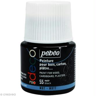 Peinture P.BO Déco 45 ml - mat - Noir