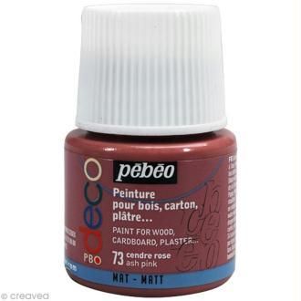 Peinture P.BO Déco 45 ml - mat - Rose cendre