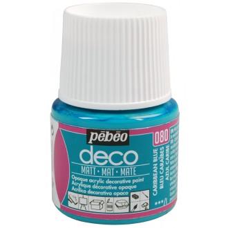 Peinture P.BO Déco 45 ml - mat - Bleu Caraïbes
