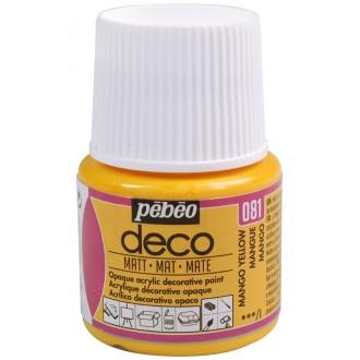 Peinture P.BO Déco 45 ml - mat - Orange mangue