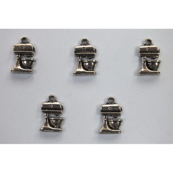 LOT  5 CHARMS METALS : cafetiere 13mm - Photo n°1