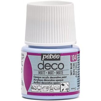 Peinture P.BO Déco 45 ml - mat - Bleu ciel