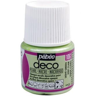 Peinture P.BO Déco 45 ml - nacré - Vert Provence