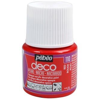 Peinture P.BO Déco 45 ml - nacré - Rouge