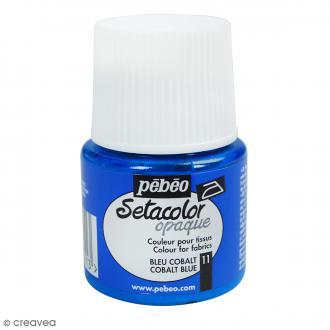 Peinture tissu Pébéo Setacolor 45 ml - opaque - Bleu cobalt