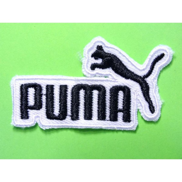 APPLIQUE TISSU THERMOCOLLANT : Puma noir/blanc 60*30mm - Etiquette ...