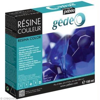 Résine Gédéo couleur - kit Bleu lazuli 150 ml