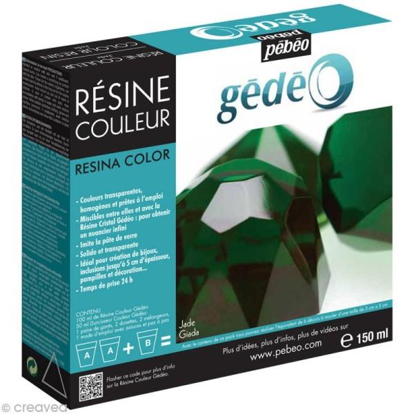 Résine Gédéo couleur - kit Vert jade 150 ml - Photo n°1