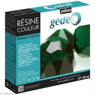 Résine Gédéo couleur - kit Vert jade 150 ml