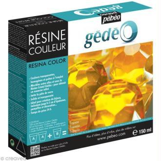 Résine Gédéo couleur - kit Jaune topaze 150 ml
