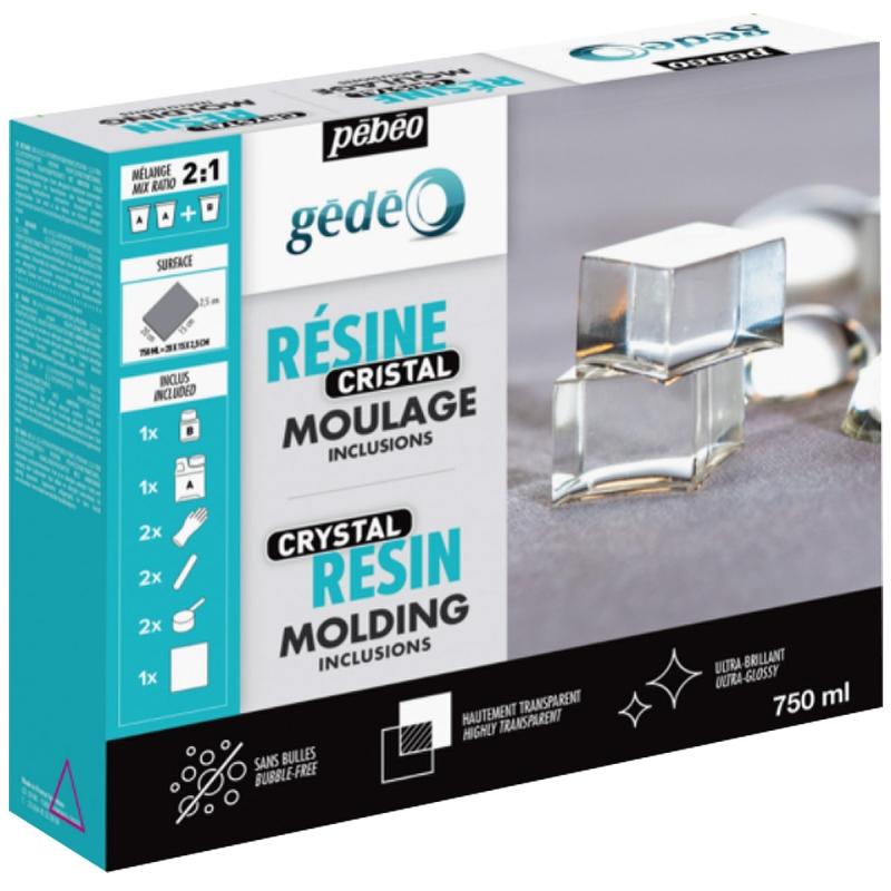 R sine g d o kit cristal 750 ml r sine cristal creavea - Resine epoxy cristal ...