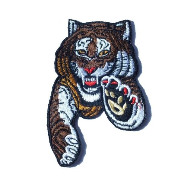 APPLIQUE TISSU THERMOCOLLANT : tigre 120*70mm