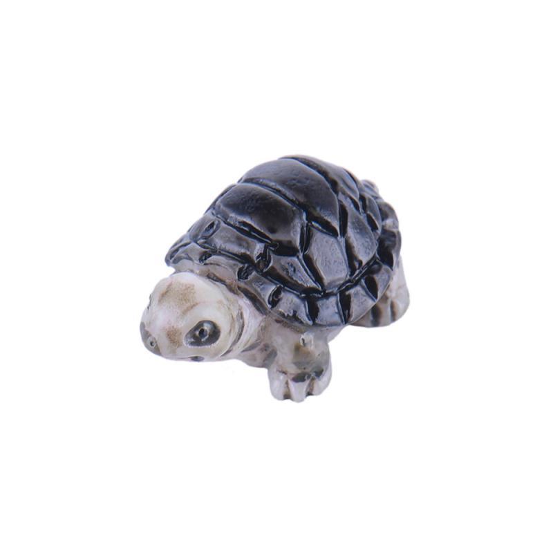 Miniature en resine tortue grise 2cm formes en r sine for Resine grise