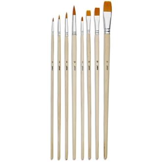 Pinceau Pebeo - 8 brosses en polyamide doré