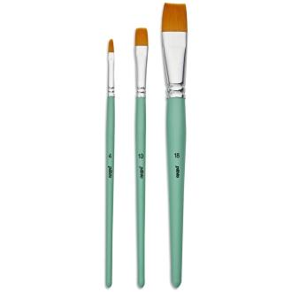 Pinceau Pebeo - 3 brosses en polyamide doré