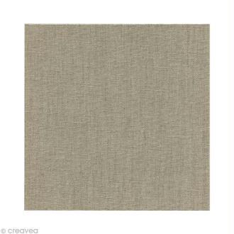 Carton toilé en lin naturel 10 x 10 cm x 3