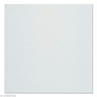 Carton toilé en coton blanc 20 x 20 cm