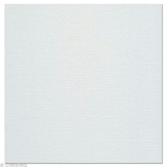 Carton toilé en coton blanc 30 x 30 cm