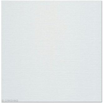 Carton toilé en coton blanc 40 x 40 cm