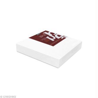 Châssis 3D coton blanc 10 x 10 cm x 3
