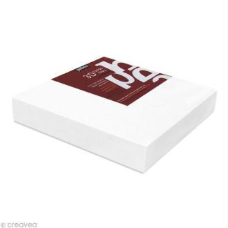 Châssis 3D coton blanc 30 x 30 cm