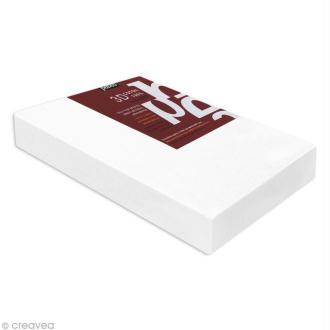Châssis 3D coton blanc 20 x 40 cm