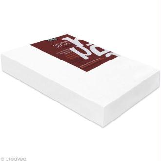 Châssis 3D coton blanc 20 x 60 cm