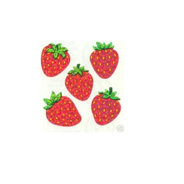 Coloriage Panier De Fraises.15 Minis Stickers Sur Feuille 5 16cm Motif Fraises De 20mm