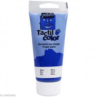Peinture au doigt - Tactil color Pebeo 80 ml Bleu