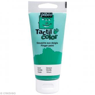 Peinture au doigt - Tactil color Pebeo 80 ml Vert