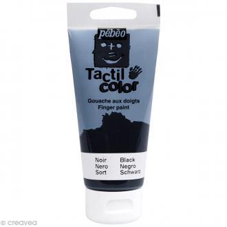 Peinture au doigt - Tactil color Pebeo 80 ml Noir