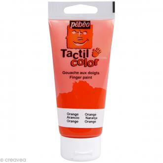 Peinture au doigt - Tactil color Pebeo 80 ml Orange
