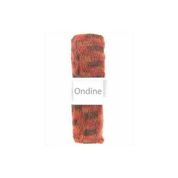 1 pelote laine pour foulard écharpe frou frou mohair Cheval Blanc ONDINE  ROUGE ORANGE 277 - 9f1f1af5bcc