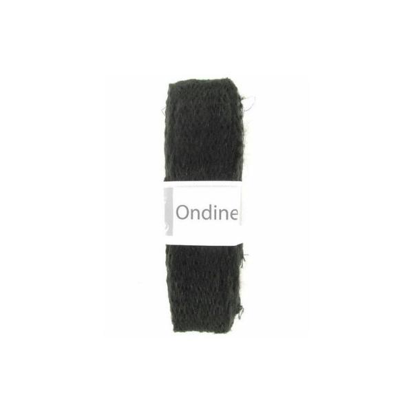9ddb82d51750 1 pelote laine pour foulard écharpe frou frou mohair Cheval Blanc ONDINE  NOIR 012 - Photo