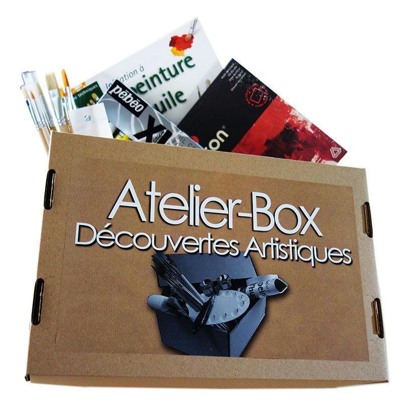 Atelier box d couverte de l 39 huile kit peinture creavea for Atelier de cuisine montpellier