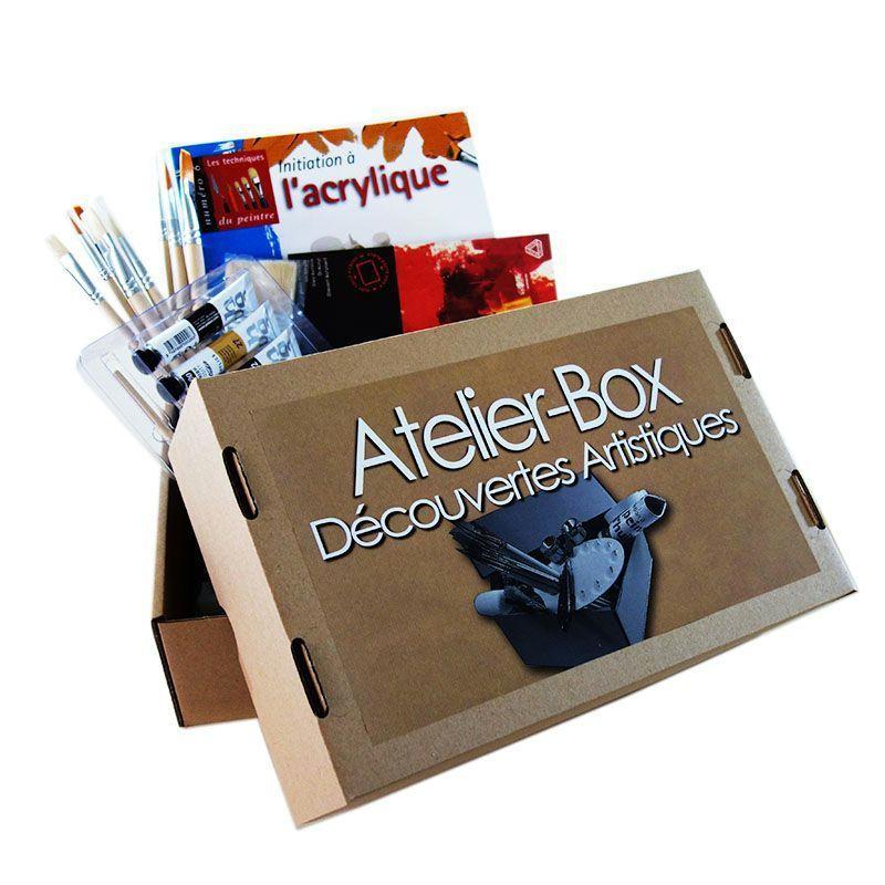 Atelier box d couverte de l 39 acrylique kit peinture creavea for Atelier de cuisine montpellier